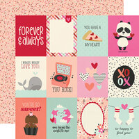 Simple Stories - Sweet Talk Collection - 12 x 12 Double Sided Paper - 3 x 4 Elements