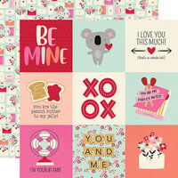 Simple Stories - Sweet Talk Collection - 12 x 12 Double Sided Paper - 4 x 4 Elements