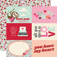 Simple Stories - Sweet Talk Collection - 12 x 12 Double Sided Paper - 4 x 6 Elements