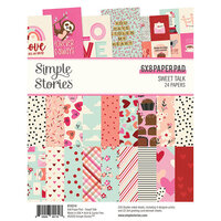 Simple Stories - Sweet Talk Collection - 6 x 8 Paper Pad