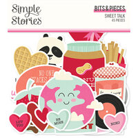 Simple Stories - Sweet Talk Collection - Ephemera - Bits and Pieces