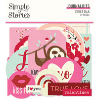 Simple Stories - Sweet Talk Collection - Ephemera - Journal Bits and Pieces