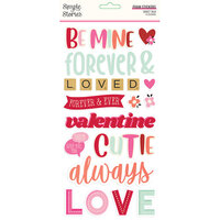 Simple Stories - Sweet Talk Collection - Foam Stickers