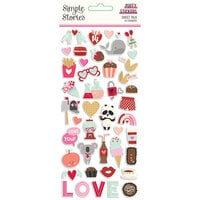 Simple Stories - Sweet Talk Collection - Puffy Stickers