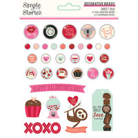 Simple Stories - Sweet Talk Collection - Decorative Brads