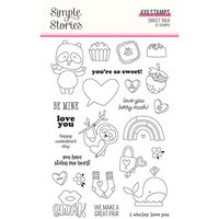 Simple Stories - Sweet Talk Collection - Clear Photopolymer Stamps