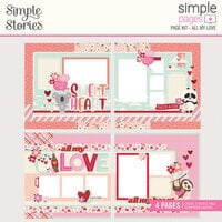 Simple Stories - Sweet Talk Collection - Simple Pages Page Kit - All My Love