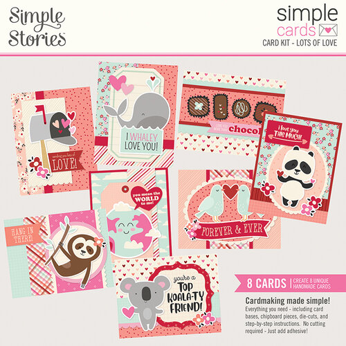 Simple Stories - Sweet Talk Collection - Simple Cards Card Kit
