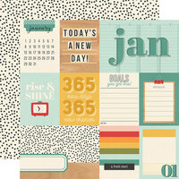 Simple Stories - Hello Today Collection - 12 x 12 Double Sided Paper - January
