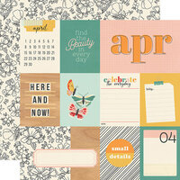 Simple Stories - Hello Today Collection - 12 x 12 Double Sided Paper - April