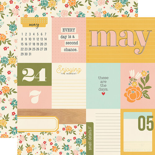 Simple Stories - Hello Today Collection - 12 x 12 Double Sided Paper - May