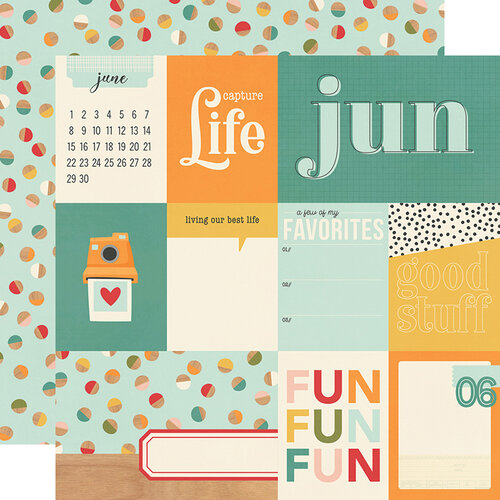 Simple Stories - Hello Today Collection - 12 x 12 Double Sided Paper - June