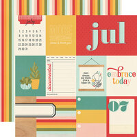 Simple Stories - Hello Today Collection - 12 x 12 Double Sided Paper - July
