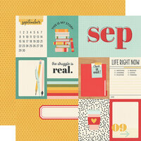 Simple Stories - Hello Today Collection - 12 x 12 Double Sided Paper - September