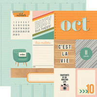 Simple Stories - Hello Today Collection - 12 x 12 Double Sided Paper - October