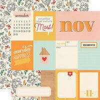 Simple Stories - Hello Today Collection - 12 x 12 Double Sided Paper - November