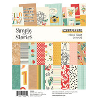 Simple Stories - Hello Today Collection - 6 x 8 Paper Pad