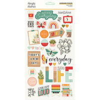 Simple Stories - Hello Today Collection - 6 x 12 Chipboard Stickers