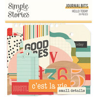 Simple Stories - Hello Today Collection - Ephemera - Journal Bits and Pieces