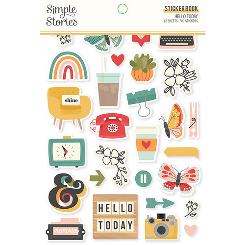 Simple Stories - Hello Today Collection - Sticker Book