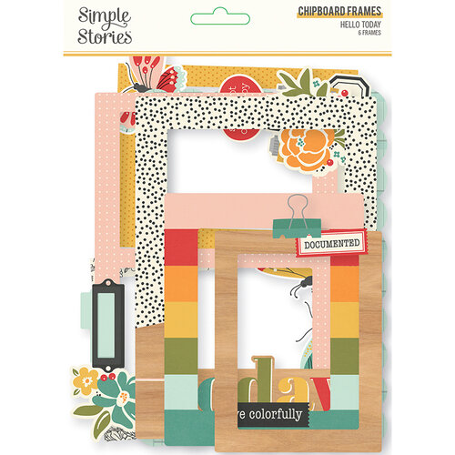 Simple Stories - Hello Today Collection - Chipboard Frames
