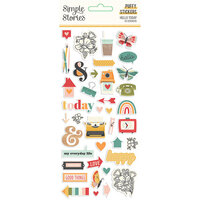 Simple Stories - Hello Today Collection - Puffy Stickers