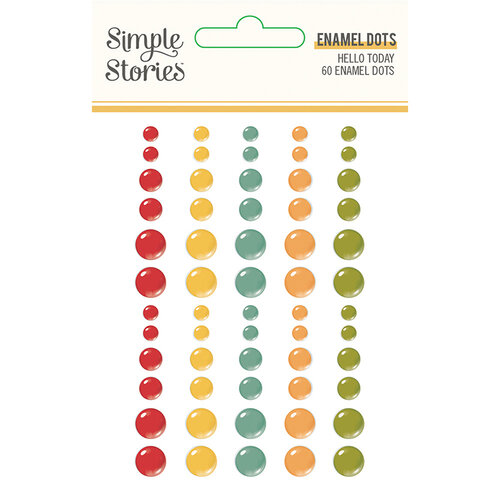 Hello Today Enamel Dots