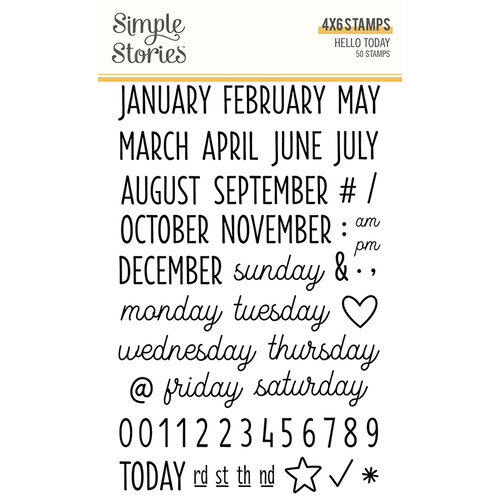 Simple Stories - Hello Today Collection - Clear Photopolymer Stamps