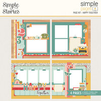Simple Stories - Hello Today Collection - Simple Pages Page Kit - Happy Together