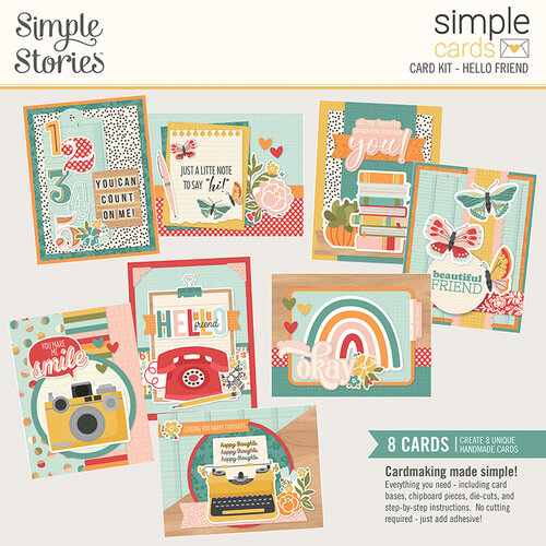 Simple Stories - Hello Today Collection - Simple Cards Card Kit - Hello Friend