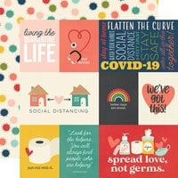 Simple Stories - Quarantined Collection - 12 x 12 Double Sided Paper - Quarantine Life