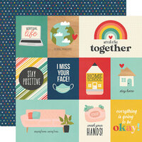 Simple Stories - Quarantined Collection - 12 x 12 Double Sided Paper - Social Distancing