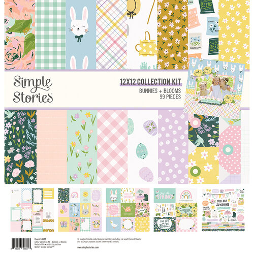 Simple Stories - Bunnies and Blooms Collection - 12 x 12 Collection Kit