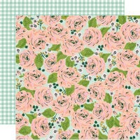 Simple Stories - Bunnies and Blooms Collection - 12 x 12 Double Sided Paper - In Full Bloom