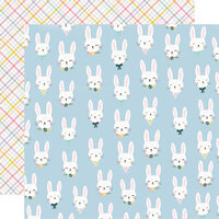 Simple Stories - Bunnies and Blooms Collection - 12 x 12 Double Sided Paper - Bunny Love