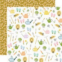 Simple Stories - Bunnies and Blooms Collection - 12 x 12 Double Sided Paper - Garden Party