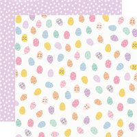 Simple Stories - Bunnies and Blooms Collection - 12 x 12 Double Sided Paper - Egg Hunt