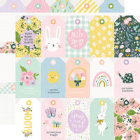 Simple Stories - Bunnies and Blooms Collection - 12 x 12 Double Sided Paper - Tags