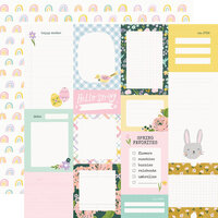 Simple Stories - Bunnies and Blooms Collection - 12 x 12 Double Sided Paper - Journal Elements