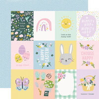 Simple Stories - Bunnies and Blooms Collection - 12 x 12 Double Sided Paper - 3 x 4 Elements