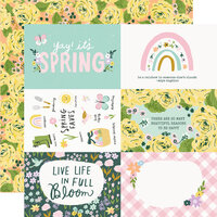 Simple Stories - Bunnies and Blooms Collection - 12 x 12 Double Sided Paper - 4 x 6 Elements