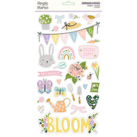 Simple Stories - Bunnies and Blooms Collection - 6 x 12 Chipboard Stickers