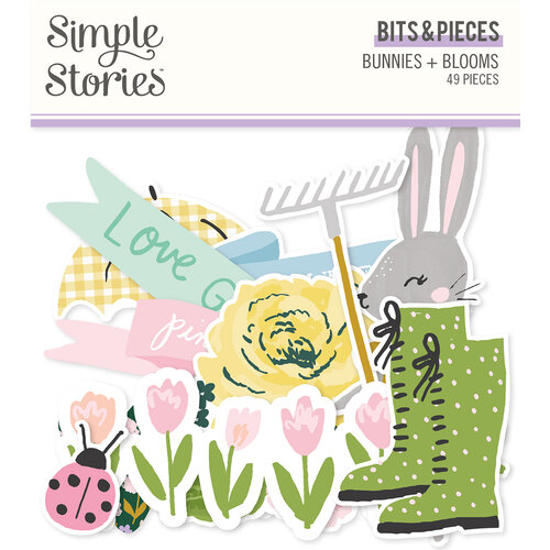 Simple Stories - Bunnies and Blooms Collection - Ephemera - Bits and Pieces