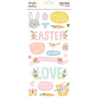 Simple Stories - Bunnies and Blooms Collection - Foam Stickers