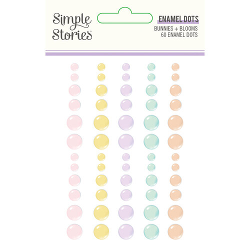 Simple Stories - Bunnies and Blooms Collection - Enamel Dots