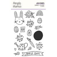 Simple Stories - Bunnies and Blooms Collection - Clear Photopolymer Stamps