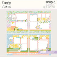 Simple Stories - Simple Pages Collection - Page Kit - Happy Spring