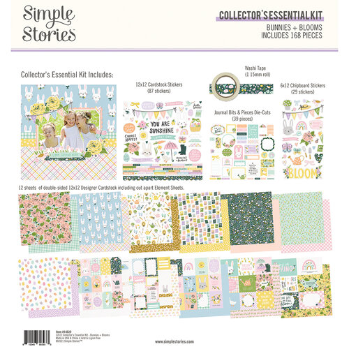 Simple Stories - Bunnies and Blooms Collection - 12 x 12 Collector's Essential Kit