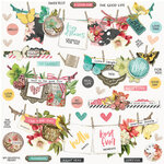 Simple Stories - Simple Vintage Cottage Fields Collection - 12 x 12 Cardstock Stickers - Banners
