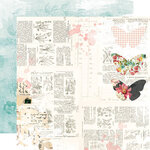 Simple Stories - Simple Vintage Cottage Fields Collection - 12 x 12 Double Sided Paper - Sweet Life